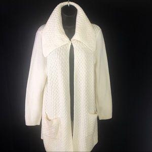 ALFANI open front collar sweater 🖤